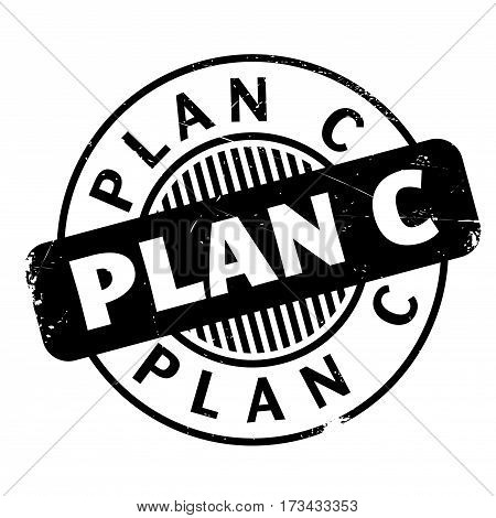 Plan C rubber stamp. Grunge design with dust scratches. Effects can be easily removed for a clean, crisp look. Color is easily changed.