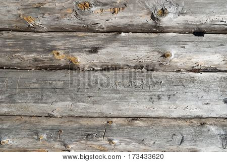 Timbered wall background, natural and weathered building