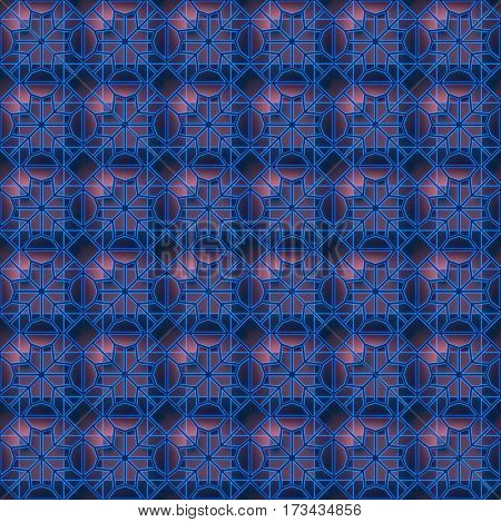 Dark industrial abstract wire geometrical seamless background 3D render illustration