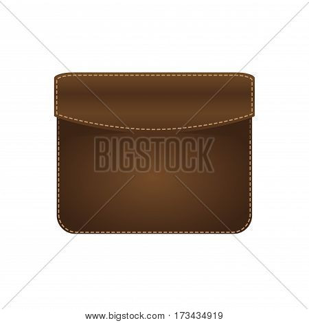 Originally pouch purse a small hollow object often made of leather or fabric, intended for carrying money . vector illustration .