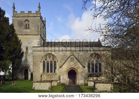 St. Marys Norman Church Beverston Gloucestershire England