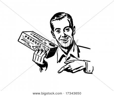 Salesman - Retro Clip Art