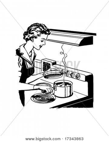 Home Cooking - Retro Clip Art