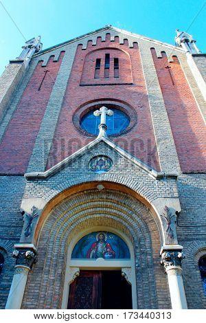 high walls of church of St. John Chrysostom in Lviv