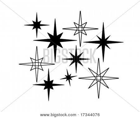 Retro Stars 7 - Retro Clip Art