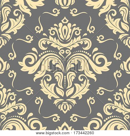 Classic seamless golden vector pattern. Traditional orient ornament. Classic vintage background