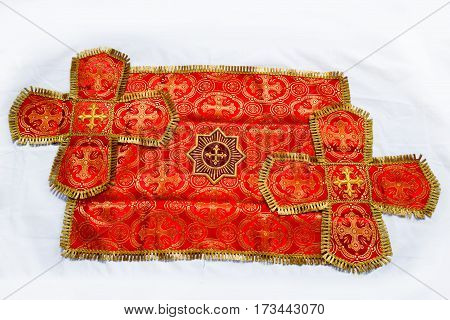 Accessories and symbols of Slavic Orthodox churches and church utensils