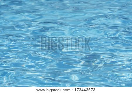 Close-up of a swimming pool surface on a summer day