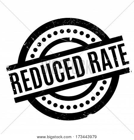 Reduced Rate rubber stamp. Grunge design with dust scratches. Effects can be easily removed for a clean, crisp look. Color is easily changed.