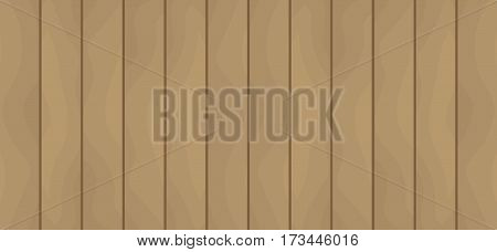 Texture of wooden boards. Brown table flat vector background EPS 10
