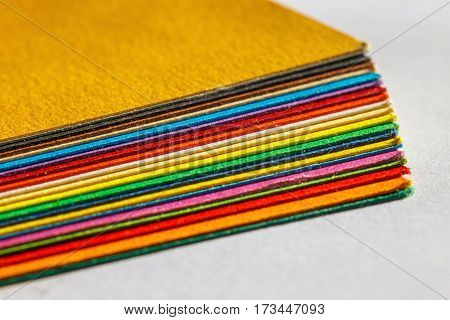 Colorful Paper Isolated On White Background, Close Up