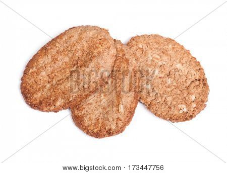Cookies with cereals isolated on white