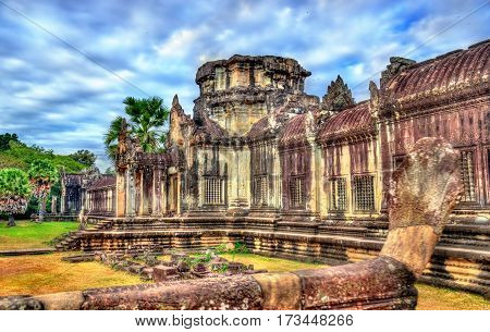 Angkor Wat Temple at Siem reap - Cambodia. It is a UNESCO world heritage site
