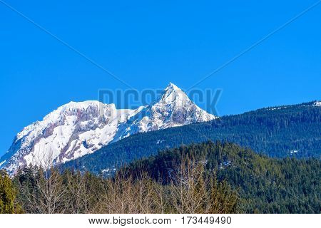 Snow mountain picks in Vancouver, Canada.