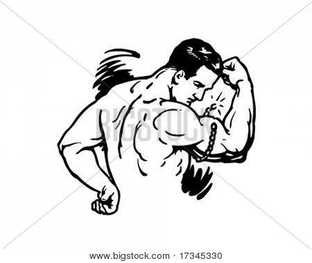 Strongman - Retro Clip Art
