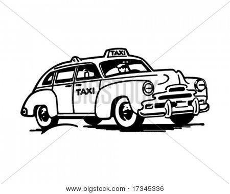 TaxiCab - Retro Clip Art