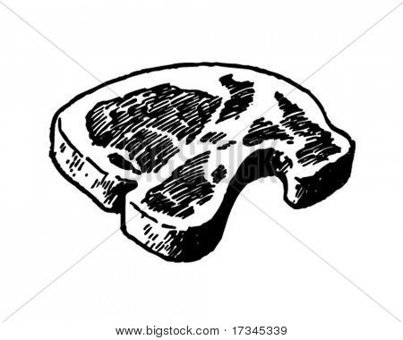 Steak - Retro Clip Art