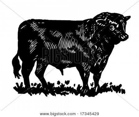 Bull - Retro Clip Art