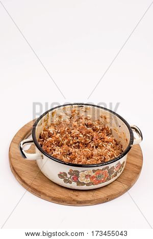 Minced Meat Ready For Stuffing Sauerkraut
