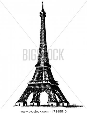 Eiffel Tower 2 - Retro ClipArt