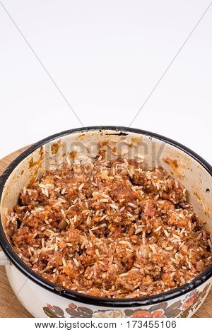 Minced Meat In The Old Grandmothers Pot