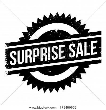 Surprise Sale rubber stamp. Grunge design with dust scratches. Effects can be easily removed for a clean, crisp look. Color is easily changed.