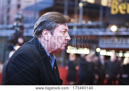 Aki Kaurismaki attends the 'The Other Side of Hope' (Toivon tuolla puolen) premiere during the 67th Film Festival Berlin at Berlinale Palace on February 14, 2017 in Berlin, Germany.