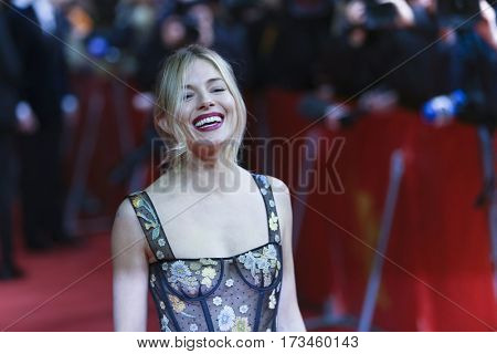 Sienna Miller wearing Dior attends the 'The Lost City of Z' premiere during the 67th Berlinale International Film Festival Berlin at Zoo Palast on February 14, 2017 in Berlin, Germany.