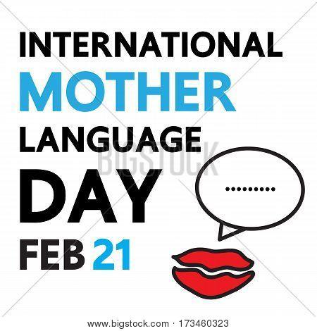 International mother language day. vector international design.