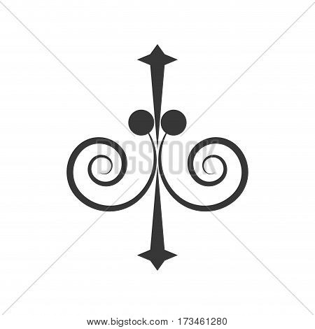 decorate ornate scroll style vector illustration eps 10