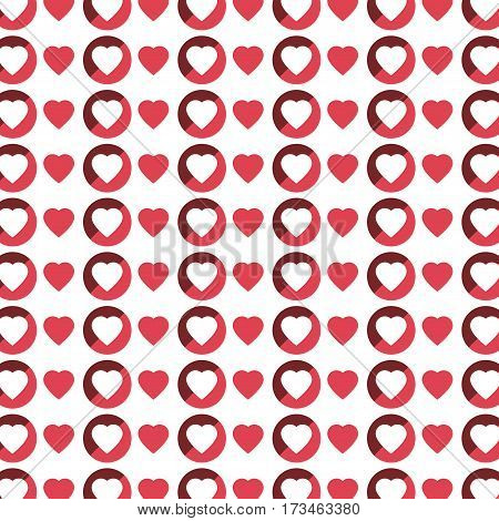 color pattern with hearts in white background vector illustration