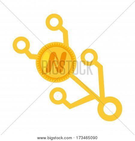 namecoin money golden virtual vector illustration eps 10