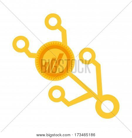 worldcoin money golden virtual vector illustration eps 10