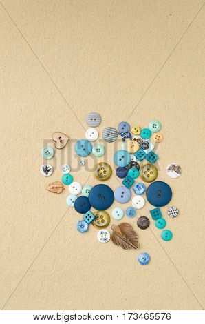 Heap Of Clothing Buttons Of Different Shapes And Sizes