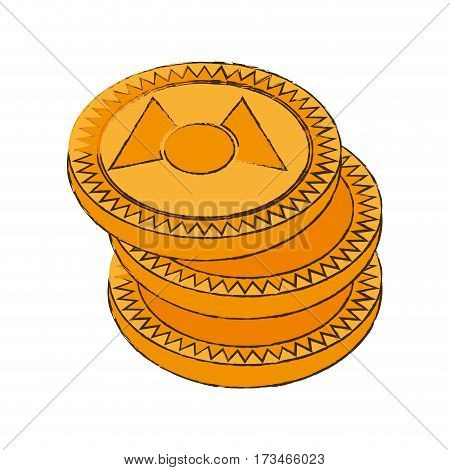 mastercoin cryptocurrency stack icon vector illustration eps 10