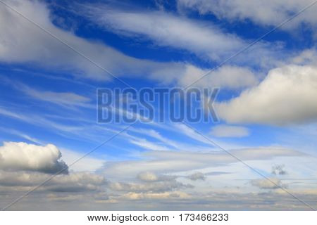 Abstract nice clouds in blue sky