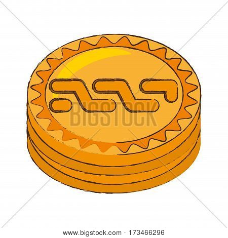 nxt coin cryptocurrency stack icon vector illustration eps 10