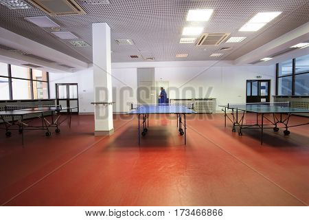 The image of ping-pong table