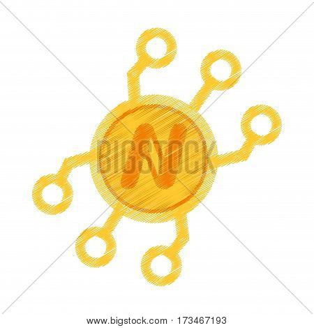 drawing namecoin web icon vector illustration eps 10