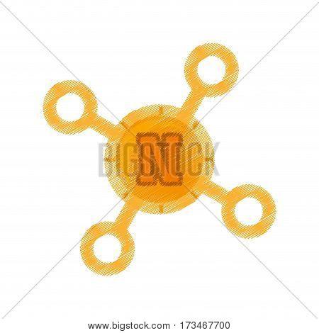 drawing novacoin web icon vector illustration eps 10