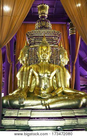 Mueang Boran inside temple Buddha Thailand gold