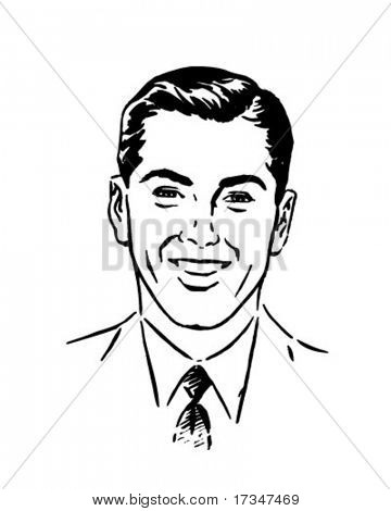 Nice Young Man - Retro Clipart Illustration