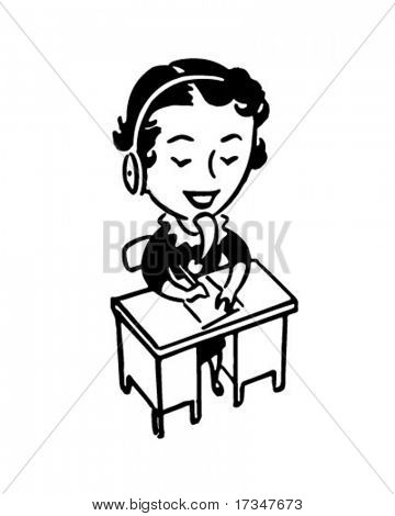 Steno 4 - Retro Clipart Illustration