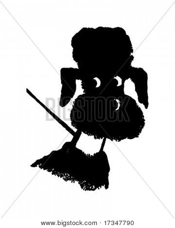 Black Poodle - Retro Clipart Illustration