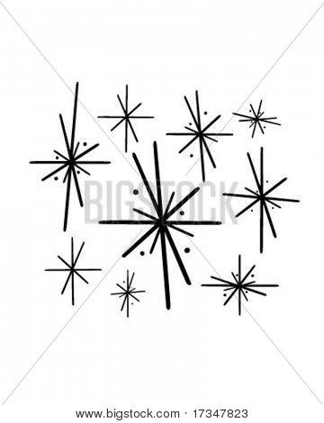 Retro Stars 2 - Retro Clipart