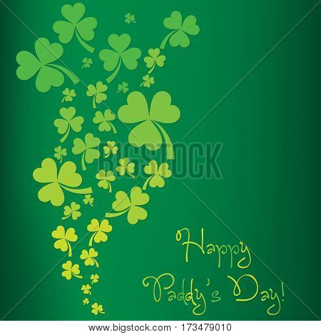 Shamrock St. Patrick's Day Card In Vector Format.
