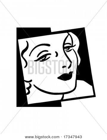 Woman In Vogue - Retro Clipart Illustration