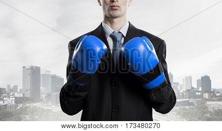 Mister boss ready to fight . Mixed media