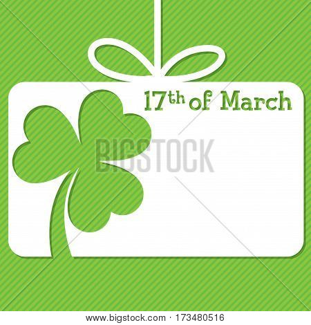 St. Patrick's Day Tag In Vector Format.