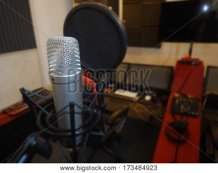 Microphone in a recording studio ( Musical instrument )